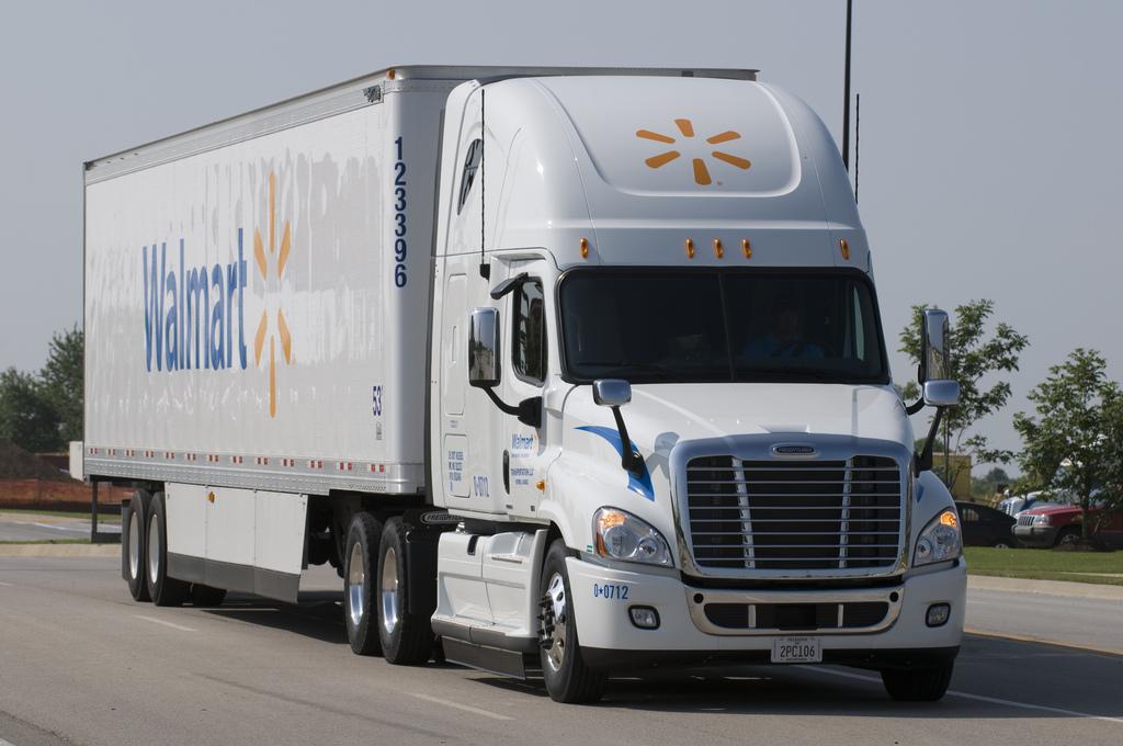 A Walmart tractor-trailer.