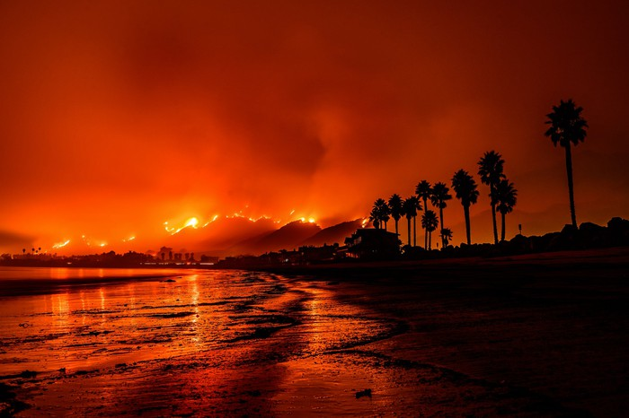 A California wildfire
