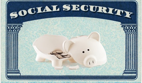 Social Security Broken Piggy Bank -- mid (GettyImages-168814475)