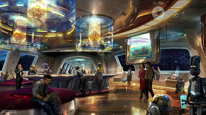 An artists concept of the the Star Wars-themed hotel.