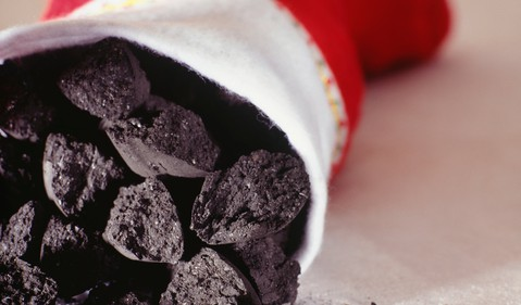 Coal Christmas Stocking Bad Invest Underperform Getty