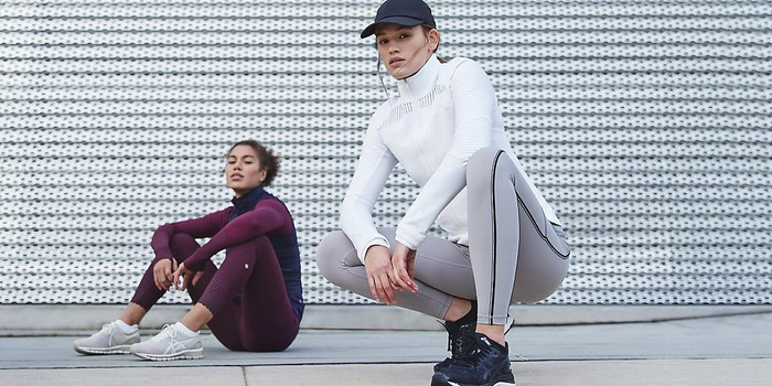 Two women wearing Lululemon apparel.