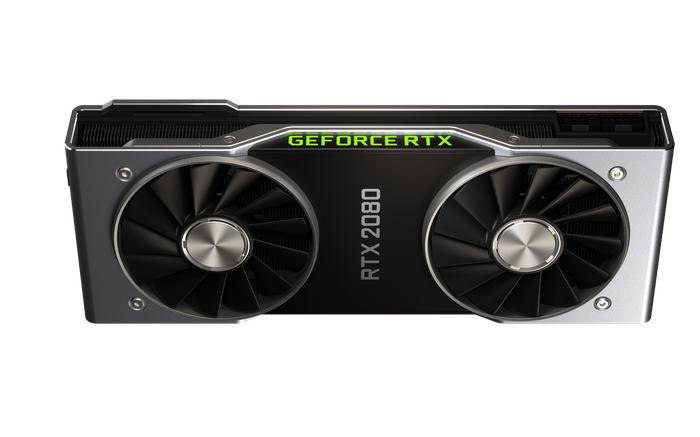 The GeForce RTX 2080 graphics card.