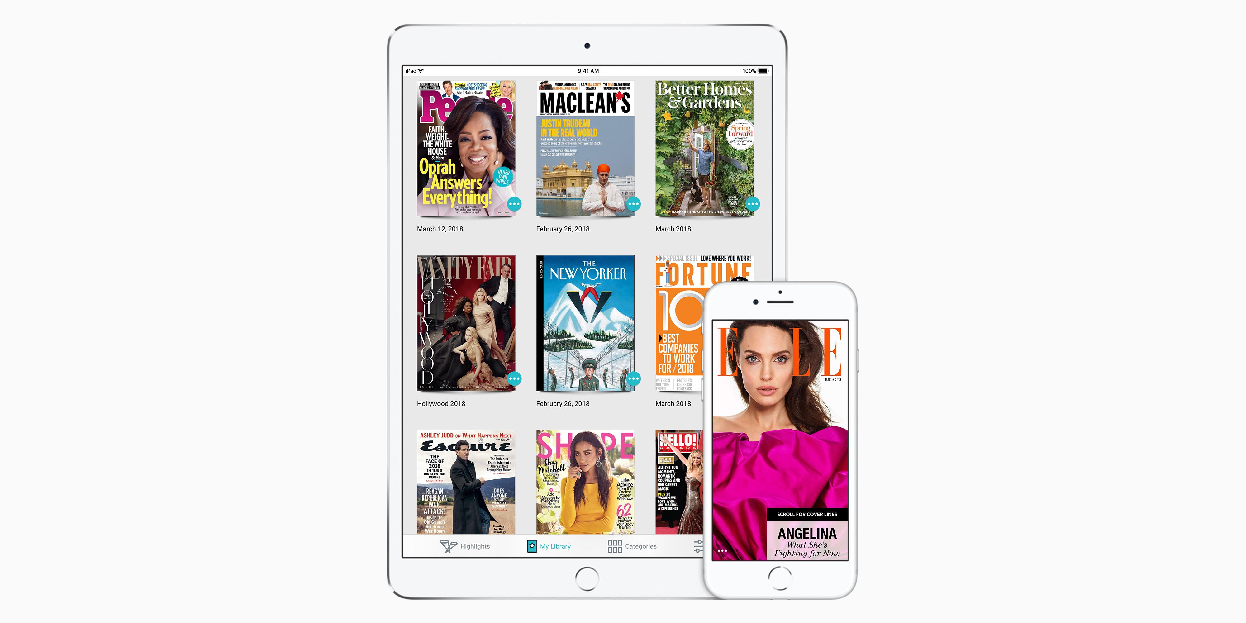Texture app on an iPad and an iPhone