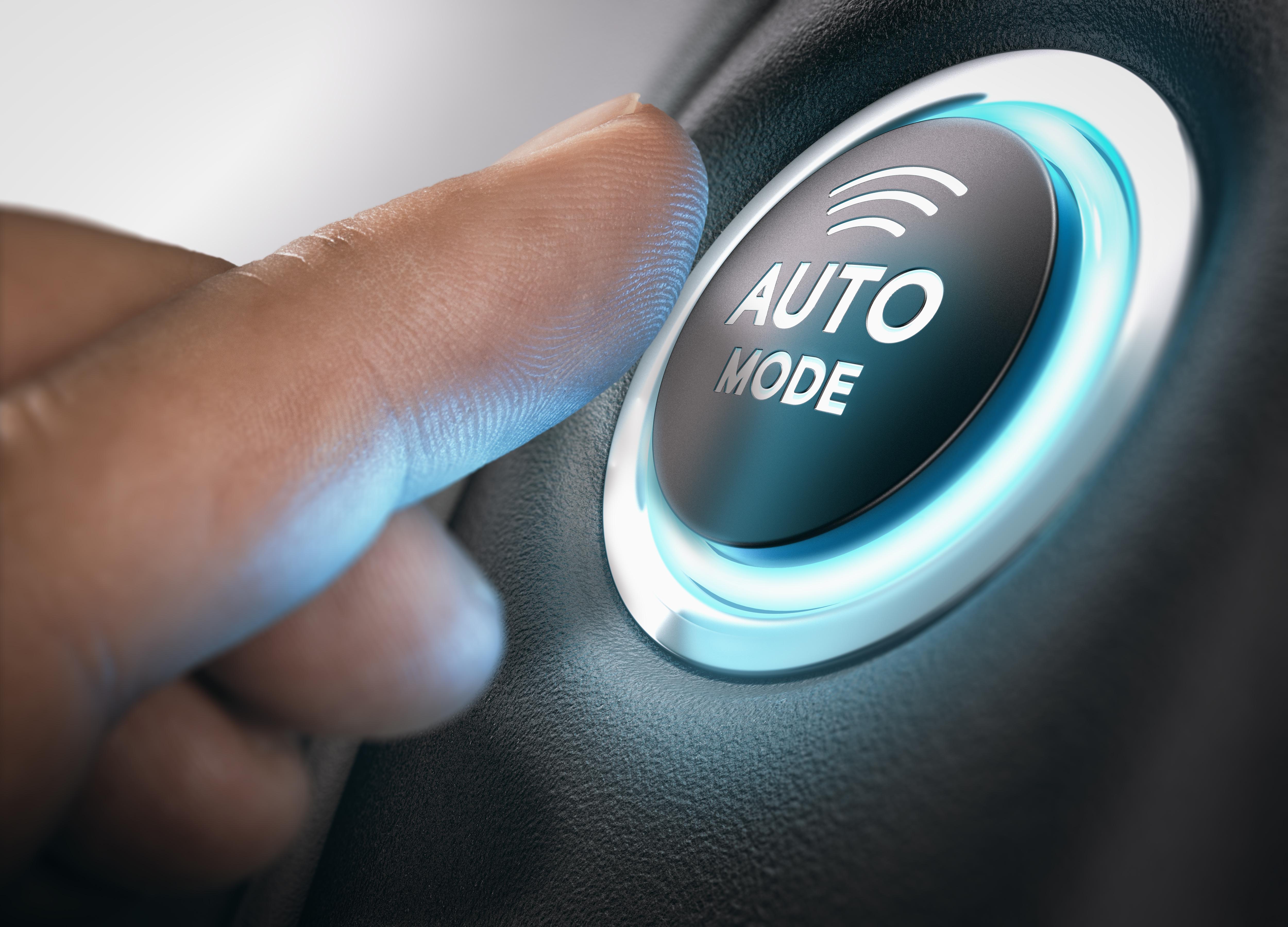Auto Mode on a car button