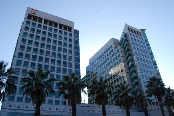 Adobe's San Jose, California, headquarter buildings.