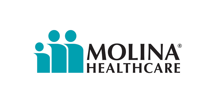 Three stylized graphics representing people, as Molina logo.
