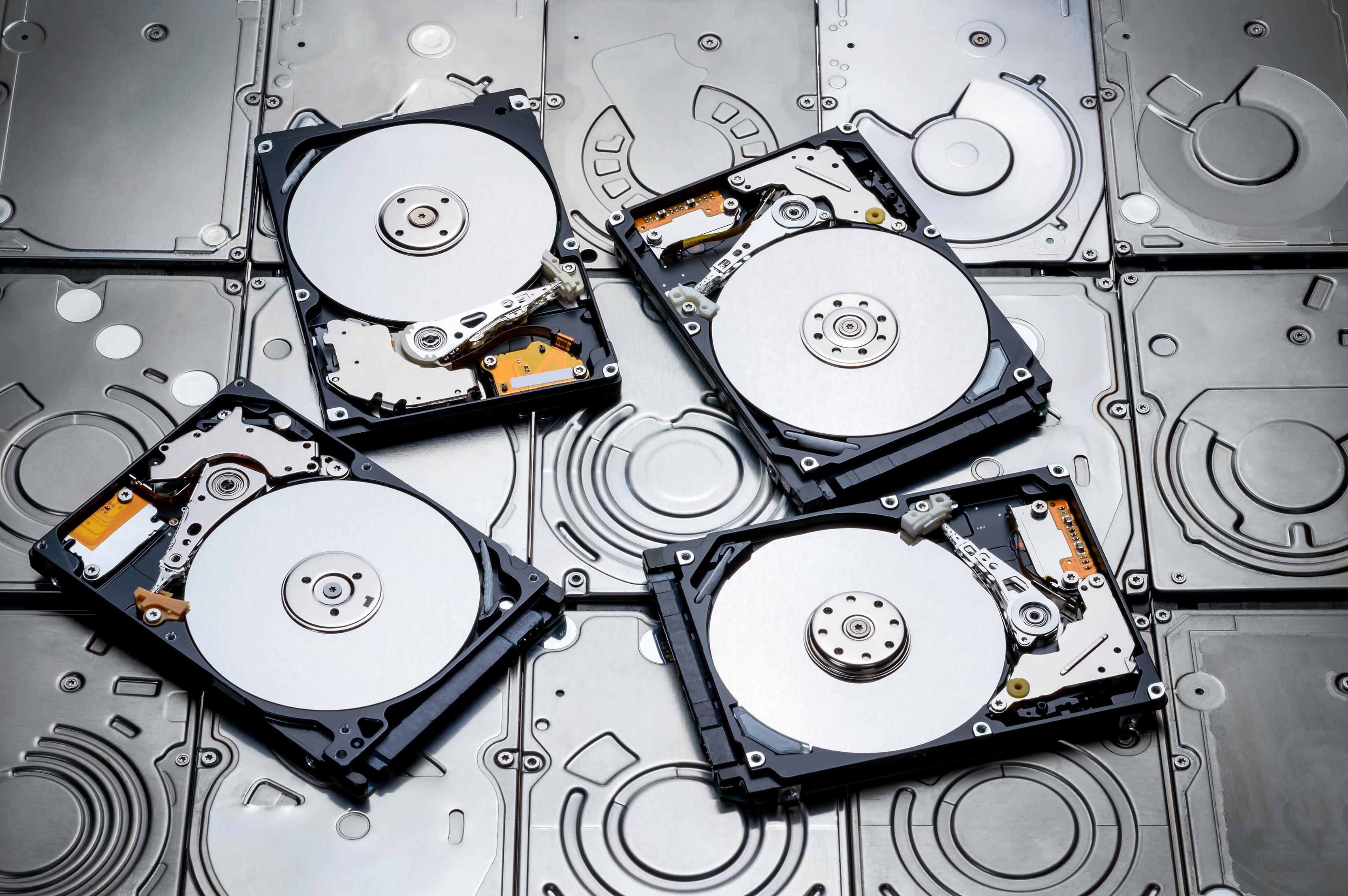 Platter-based HDDs.