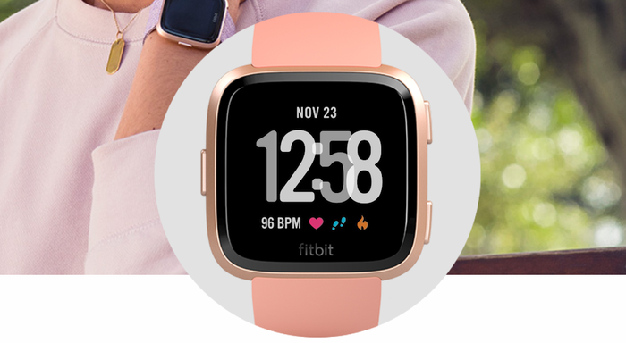 A Fitbit smartwatch