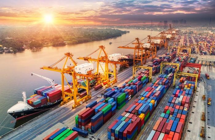 A cargo port.