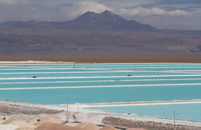 Brine ponds for lithium production