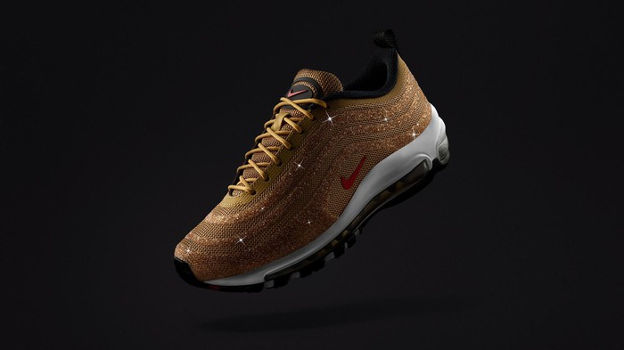 Nike Air Max 97 shoe in gold