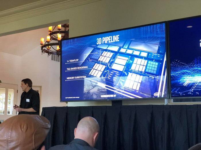 Intel Fellow and Director of Graphics Architecture presenting Gen. 11 at the IA Day.
