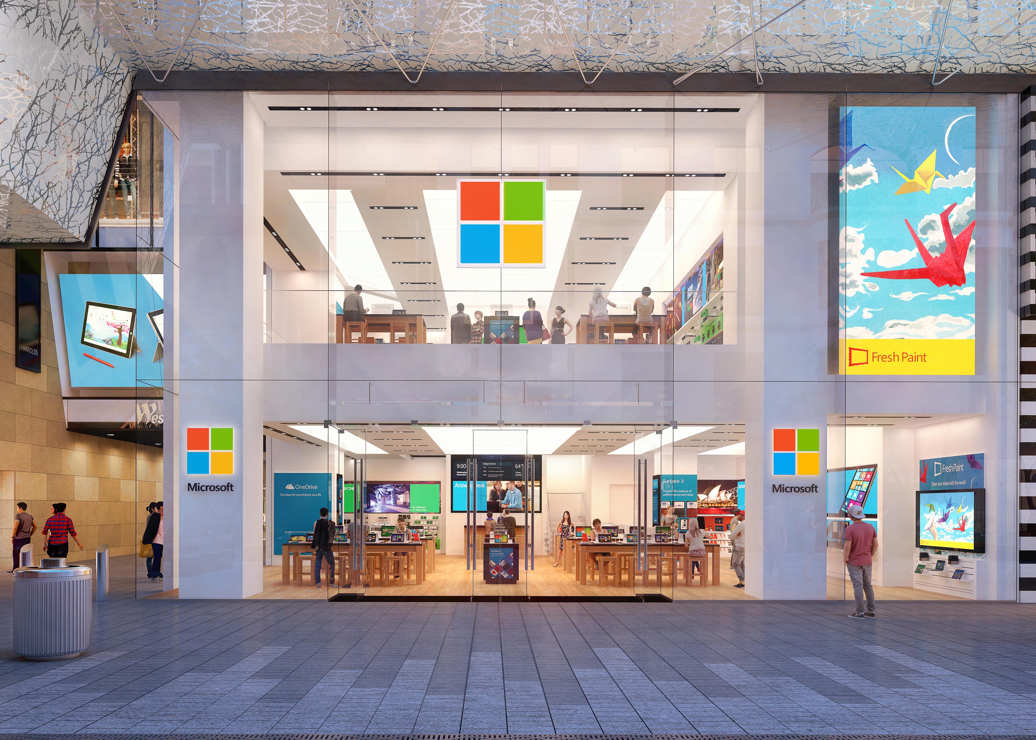 A Microsoft retail store.