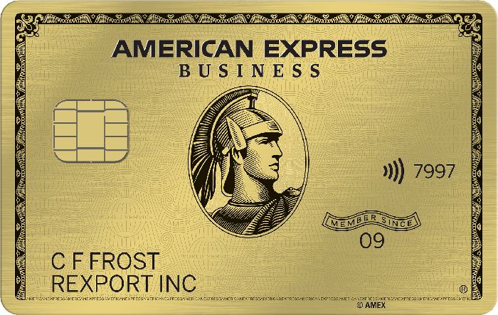 Sample AmEx Gold Card