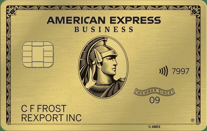 Sample AmEx Gold Card