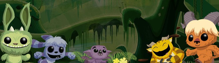 A banner featuring Funko's Pop! Monsters.