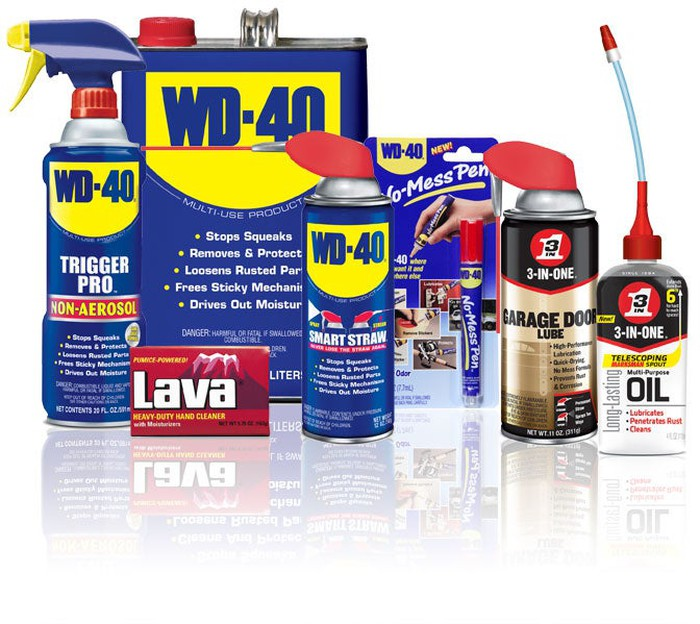 WD-40's suite of products on display.
