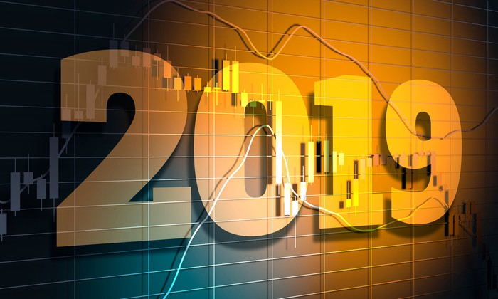 """2019"" superimposed on stock graphs."