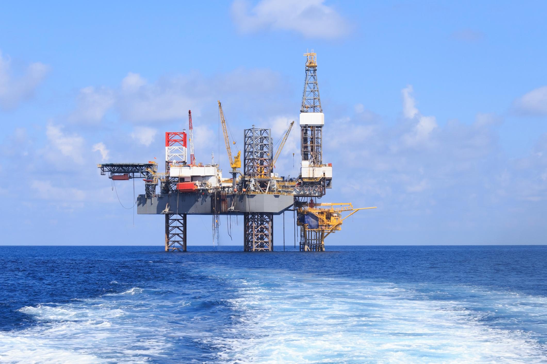 Ocean oil drilling platform