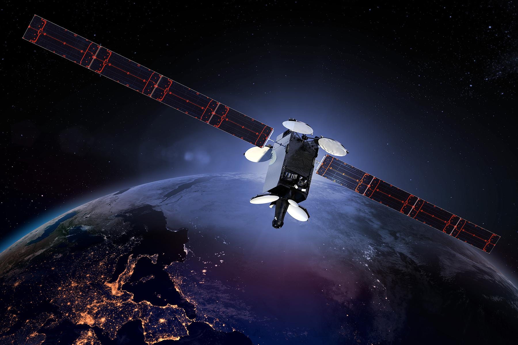 An Intelsat satellite.
