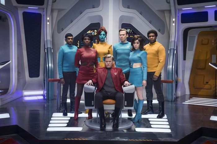 Cast of USS Callister episode from Black Mirror on Netflix