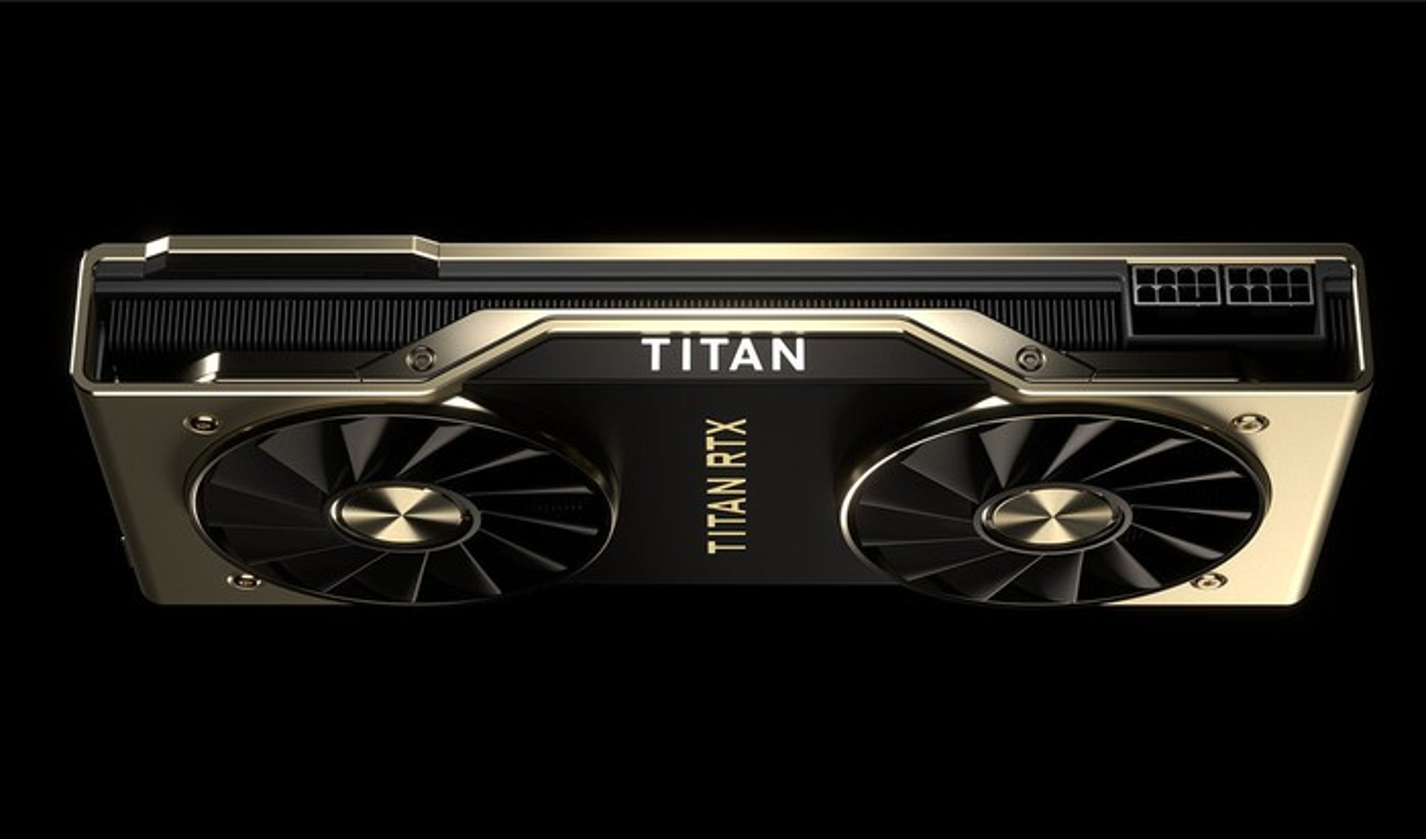 An NVIDIA Titan RTX card.