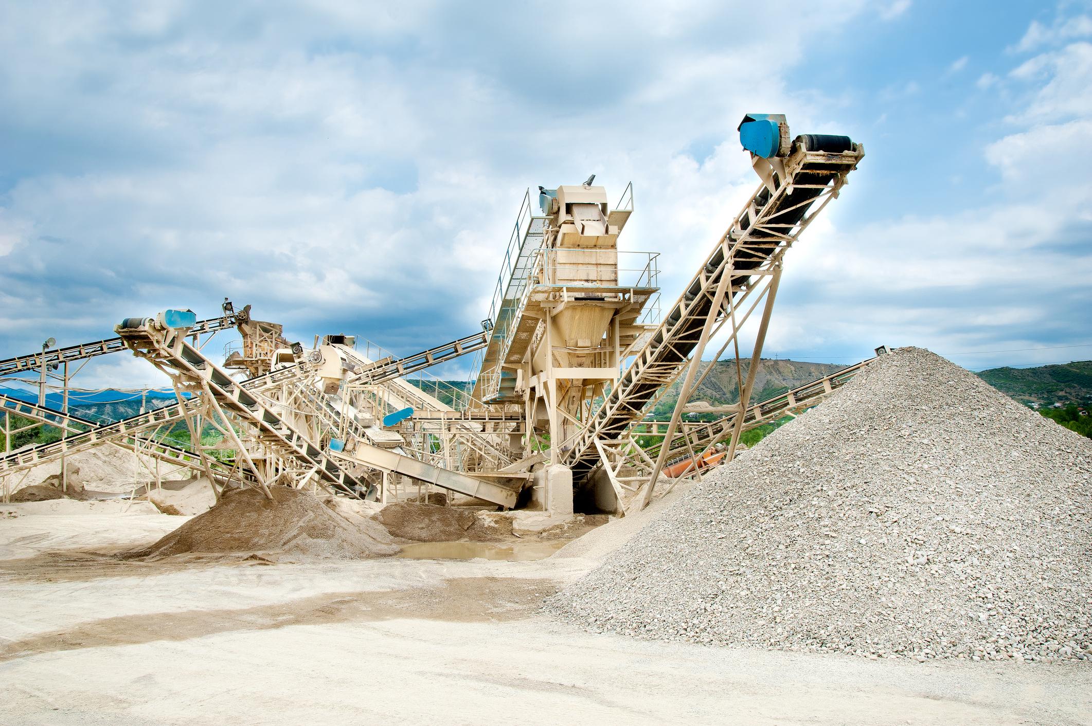 Sand mining equipment.