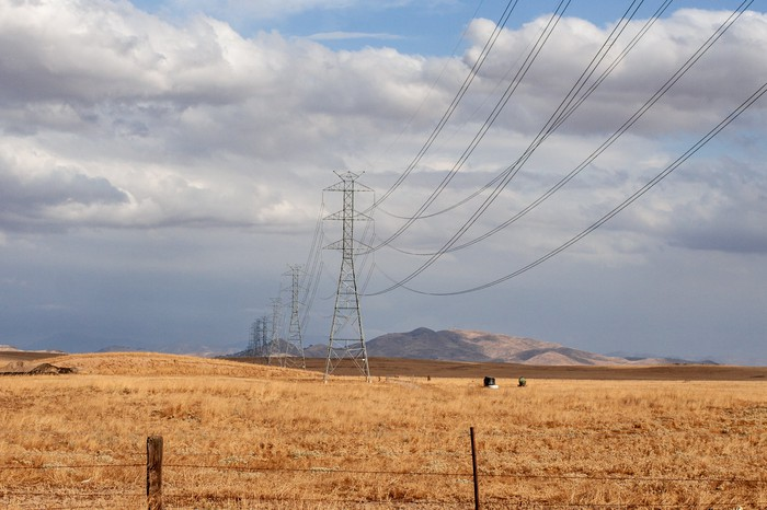 Power lines in California.