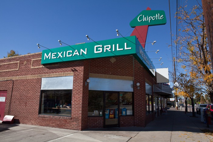 The exterior of a Chipotle restaurant in Colorado