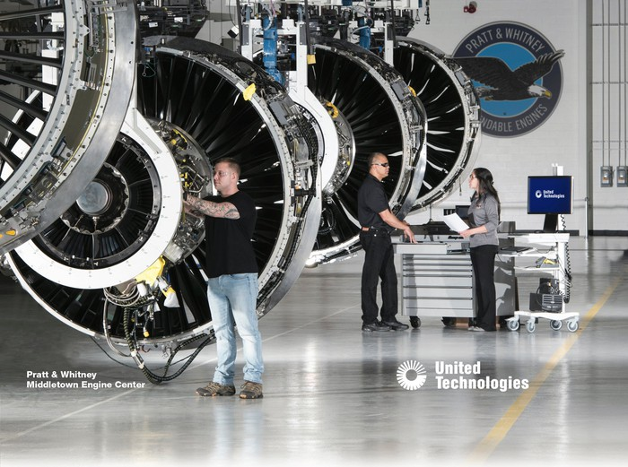 A UTC Pratt & Whitney engine service center.