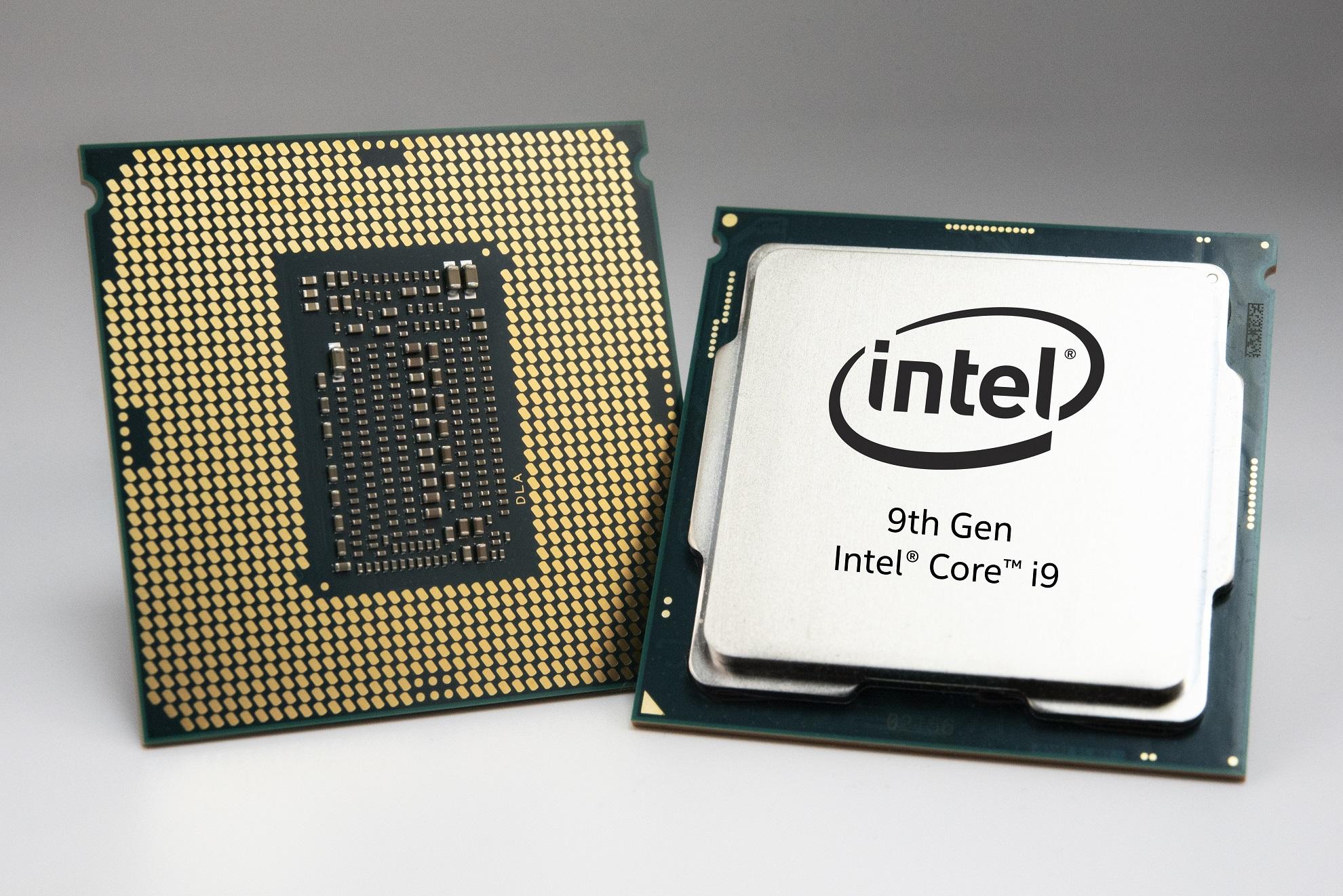 Intel 9th Gen Core desktop processors.