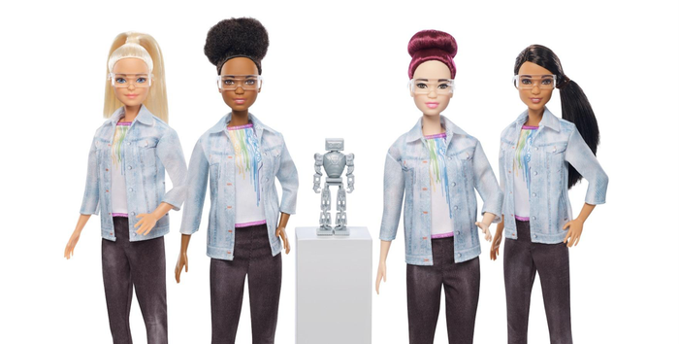 Barbie robotics engineer doll.