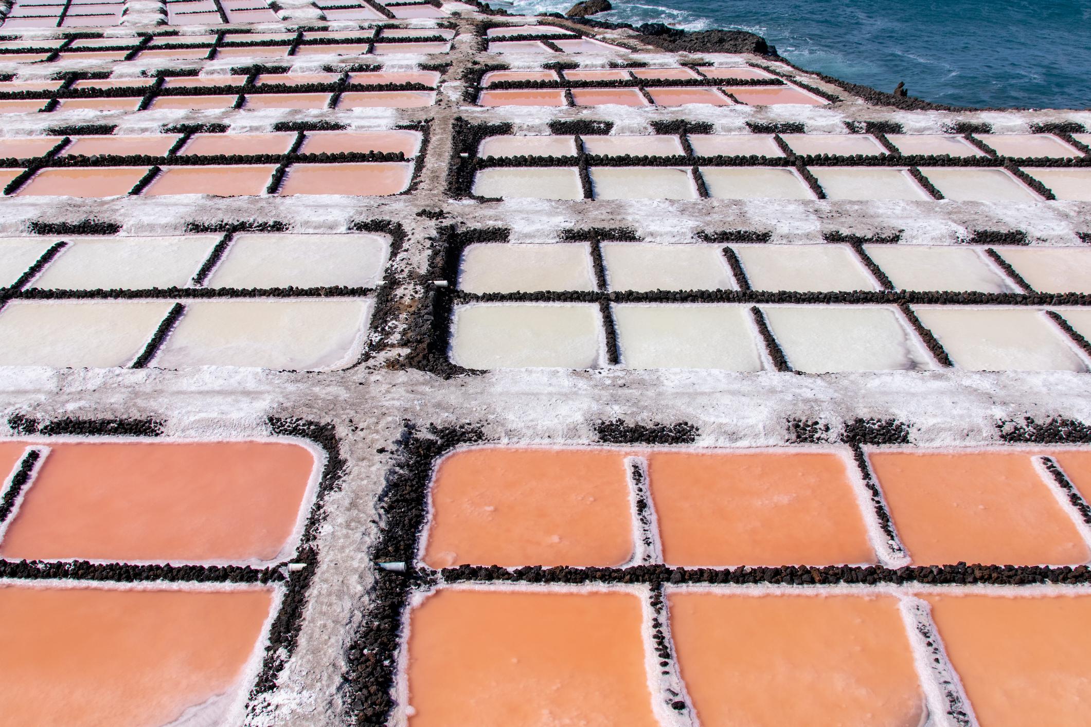 Lithium evaporation ponds.