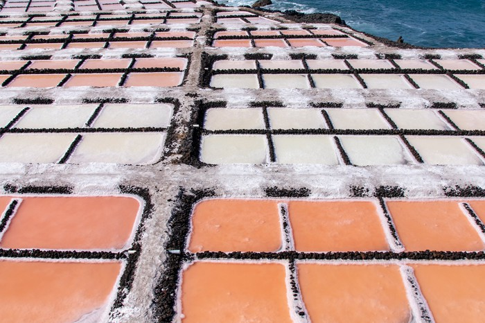 Lithium evaporation ponds.