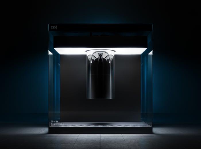 The IBM Q System One quantum computing system.