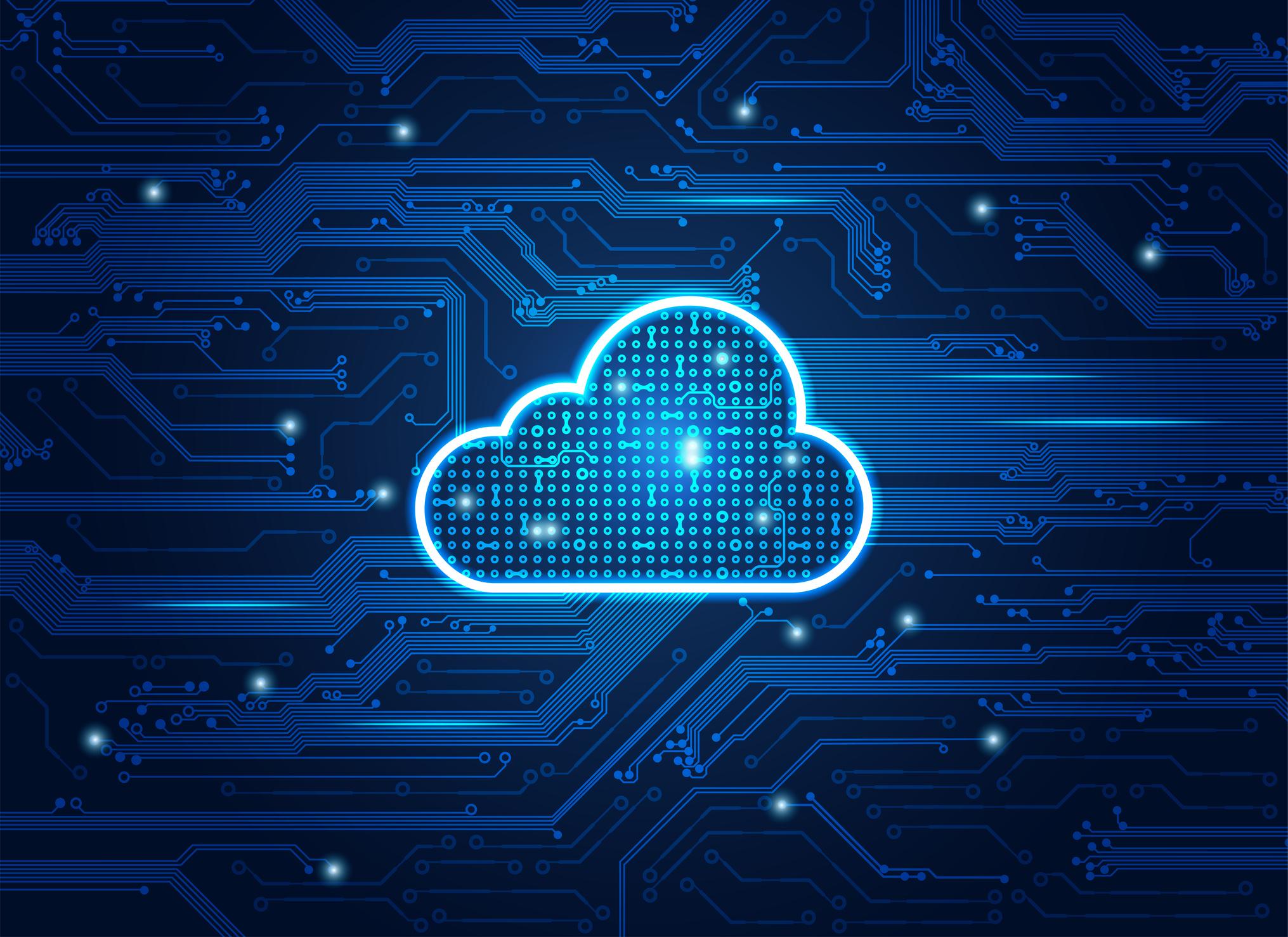 A digital-looking cloud.