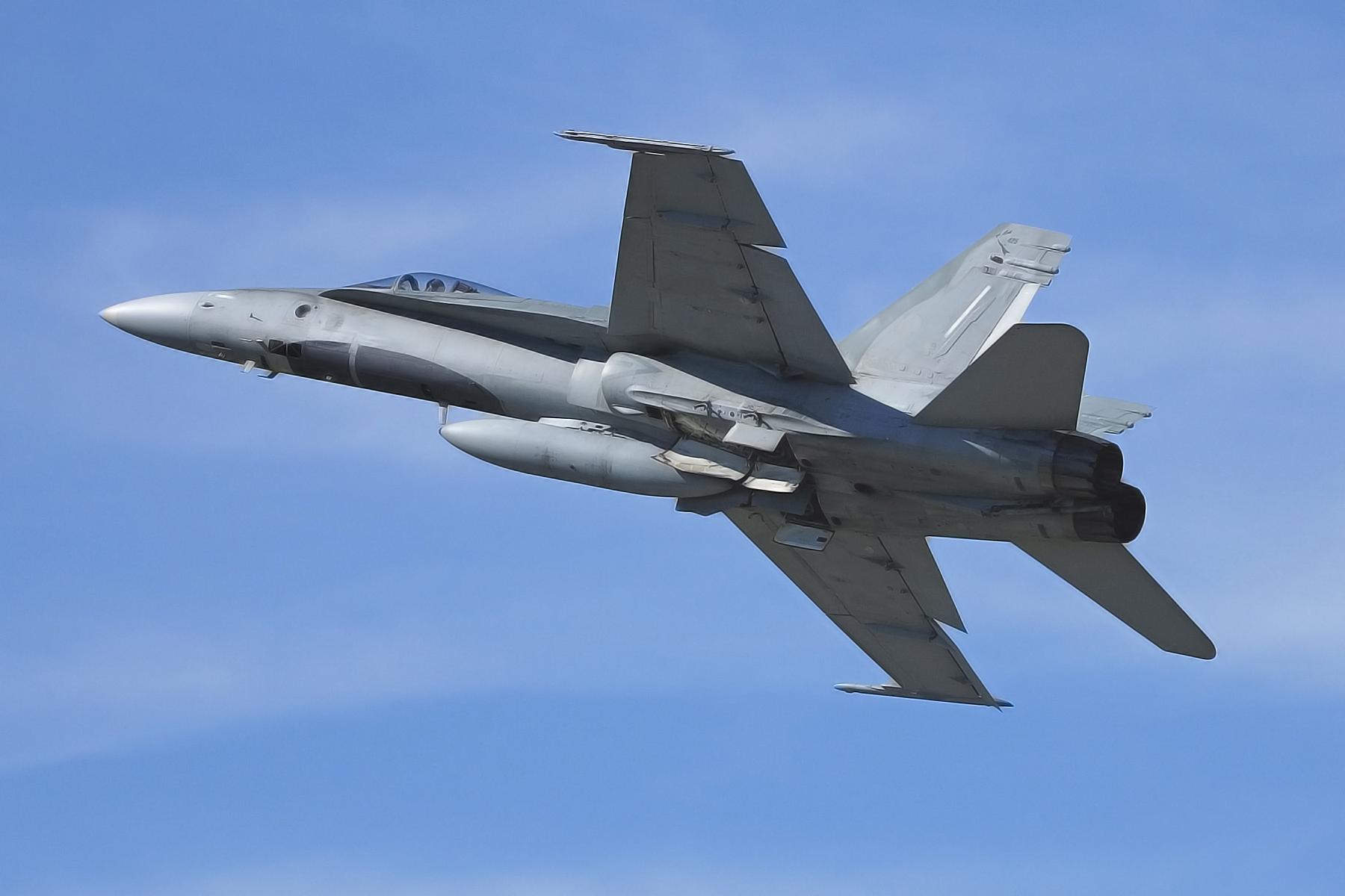 Boeing F-18 fighter jet