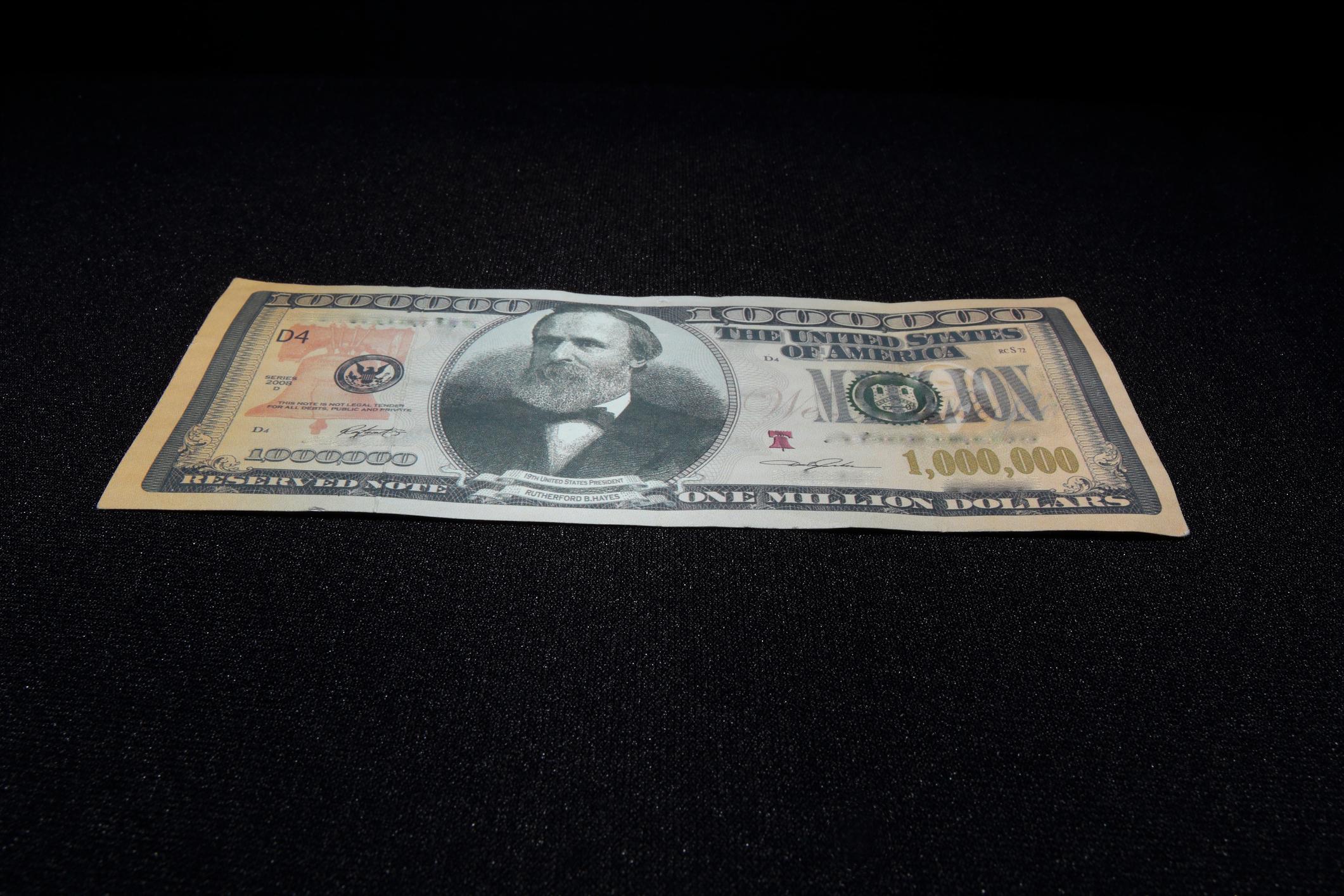 A fake $1,000,000 bill
