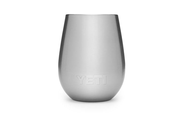 Yeti brand steel wine glass.