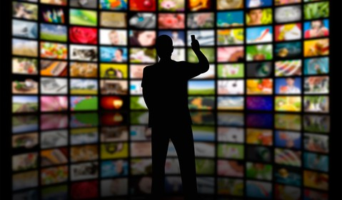 Streaming video wall of TV screens