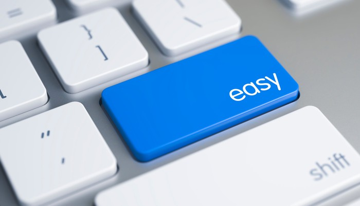 "Blue ""easy"" button on a PC keyboard"