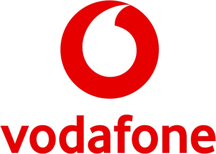 The Vodafone logo.