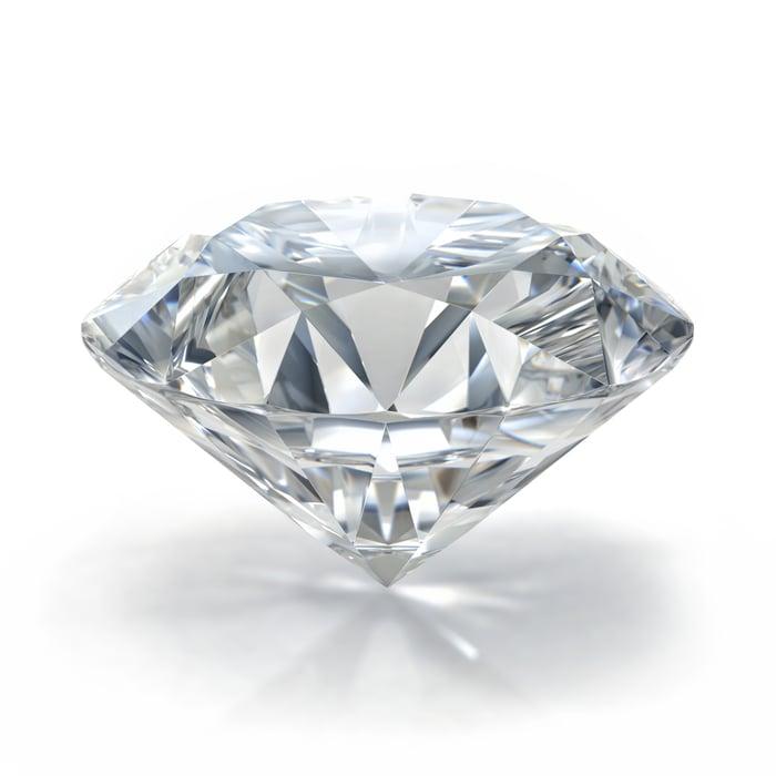 Close-up of a diamond.
