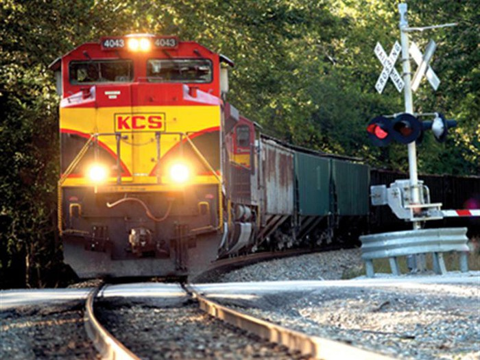 A Kansas City Southern Railway locomotive.
