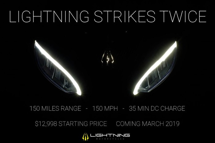 Ad for Lightning Strike electric motorcycle