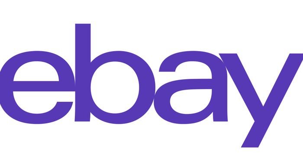 eBay logo in purple.