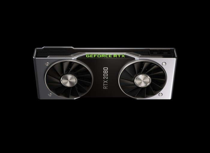 The RTX 2080 graphics card.