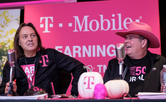 T-Mobile CEO John Legere and CFO Braxton Carter