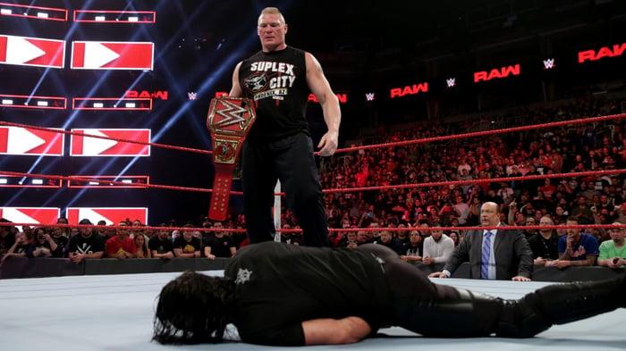 Brock Lesnar vs. Seth Rollins on WWE Raw